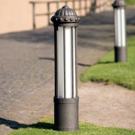 Stalp iluminat exterior din fier forjat, inaltime 111cm AL 6855 - Robers - Stalpi Fier Forjat