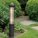 Stalp iluminat exterior din fier forjat, inaltime 100cm AL 6862