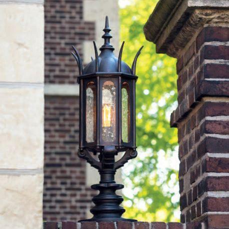 Stalp iluminat exterior din fier forjat, inaltime 91,3cm AL 6867
