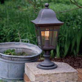 Stalp iluminat exterior din fier forjat, inaltime 58cm, AL 6836
