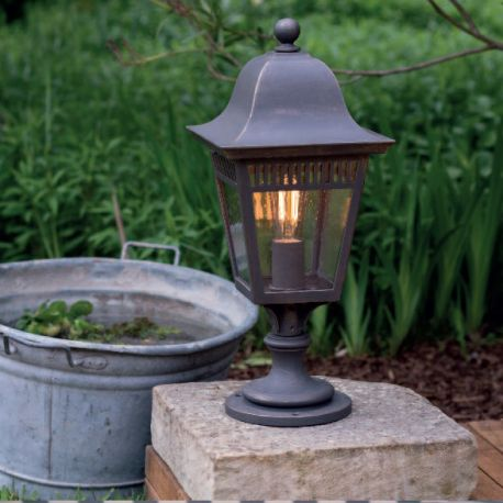 Stalp iluminat exterior din fier forjat, inaltime 58cm, AL 6836 - Robers - Stalpi Fier Forjat
