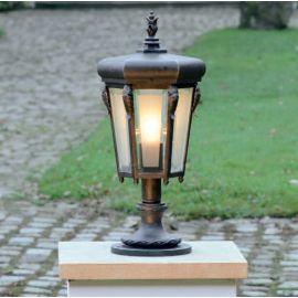 Stalp iluminat exterior din fier forjat, inaltime 58cm, AL 6803 - Robers - Stalpi Fier Forjat