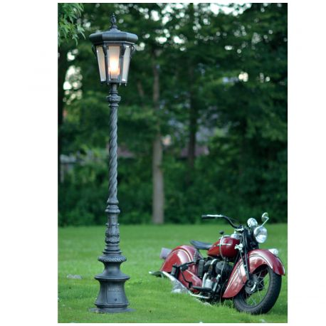 Stalp iluminat exterior din fier forjat, inaltime 247cm, AL 6784 - Robers - Stalpi Fier Forjat