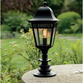 Stalp iluminat exterior din fier forjat, inaltime 78,5cm, AL 6838