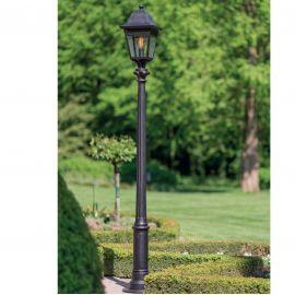 Stalp iluminat exterior din fier forjat, inaltime 256cm, AL 6839