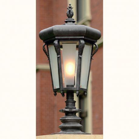Stalp iluminat exterior din fier forjat, inaltime 86,2cm, AL 6781 - Robers - Stalpi Fier Forjat