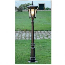 Stalp iluminat exterior din fier forjat, inaltime 151cm, AL 6804