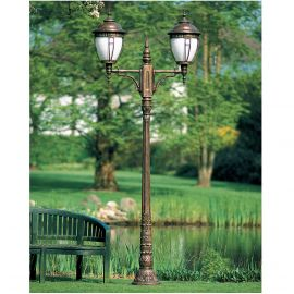 Stalp iluminat exterior din fier forjat, inaltime 307cm, AL 6603 - Robers - Stalpi Fier Forjat