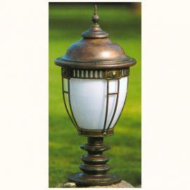 Stalp iluminat exterior din fier forjat, inaltime 88cm, AL 6601