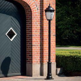 Stalp iluminat exterior din fier forjat, inaltime 264cm, AL 6865