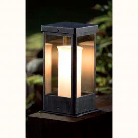 Stalp mic iluminat exterior din fier forjat, inaltime 36,5cm, AL 6828