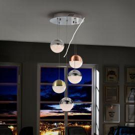 Lustra LED cu 5 pendule design modern Sphere - Evambient SV - Pendule, Lustre suspendate
