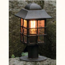 Stalp iluminat exterior din fier forjat, inaltime 38,6cm, AL 6821 - Robers - Stalpi Fier Forjat