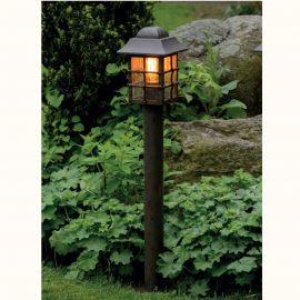 Stalp iluminat exterior din fier forjat, inaltime 103cm, AL 6822