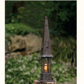 Stalp iluminat exterior din fier forjat inaltime 74,5cm AL 6842 - Robers - Stalpi Fier Forjat