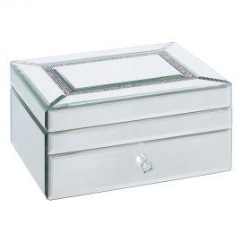 Caseta bijuterii eleganta placata cu oglinda Regal - Evambient SX - Parfumuri de camera, Idei cadouri, Obiecte decorative