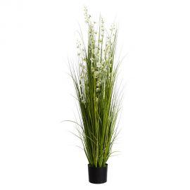 Obiecte decorative - Planta artificiala decorativa pentru exterior Flori albe 165cm