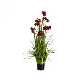Planta artificiala decorativa pentru exterior Flori fucsia 130cm