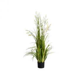 Planta artificiala decorativa pentru exterior Flori albe 126cm - Evambient SX - Obiecte decorative