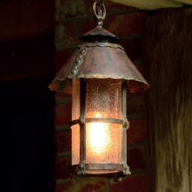 Pendul iluminat exterior din fier forjat, HL 2331 - Robers - Lustre Exterior Fier Forjat