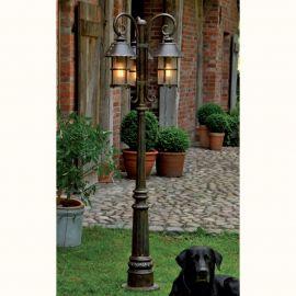 Stalp iluminat exterior din fier forjat, inaltime 180cm, AL 6538 - Robers - Stalpi Fier Forjat