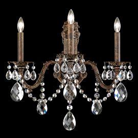 Aplica 3 brate design LUX cristal Heritage, Alea AL6513 - Lux Lighting Schonbek - Aplice Cristal Schonbek