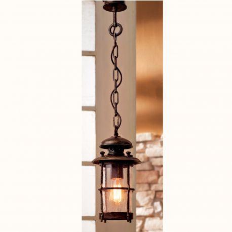 Lustra iluminat exterior din fier forjat HL 2446-A - Robers - Lustre Exterior Fier Forjat