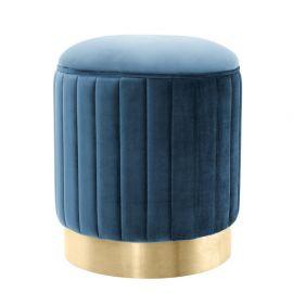 Taburete design lux Allegra albastru
