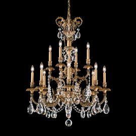 Lustra LUX 12 brate, stil floral cu cristale Spectra, Genzano GE4722 - Lux Lighting Schonbek - Lustre Cristal Schonbek