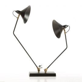 Veioza / Lampa de masa din metal design retro Narcisse neagra - Evambient TN - Veioze