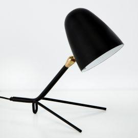 Veioza / Lampa de masa din metal design retro Clara neagra - Evambient TN - Veioze