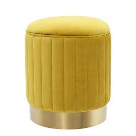 Taburete design lux Allegra galben - Eichholtz - Banchete-Tabureti