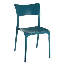 Set de 2 scaune din polipropilena Monika, albastru - Evambient SX - Seturi scaune, HoReCa