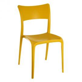 Set de 2 scaune din polipropilena Monika, galben - Evambient SX - Seturi scaune, HoReCa