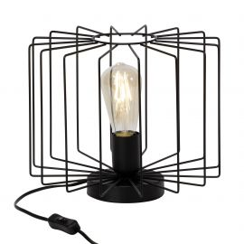 Veioza / Lampa de masa design retro ONELIA negru - Evambient BL - Veioze