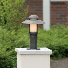 Stalp iluminat exterior din fier forjat, inaltime 50cm, AL 6523 - Robers - Stalpi Fier Forjat