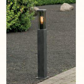 Stalp iluminat exterior din fier forjat, inaltime 95cm, AL 6859 - Robers - Stalpi Fier Forjat