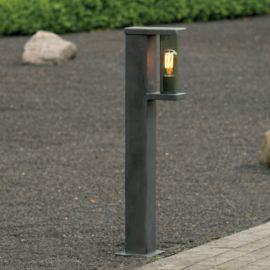 Stalp iluminat exterior din fier forjat, inaltime 95cm, AL 6860 - Robers - Stalpi Fier Forjat