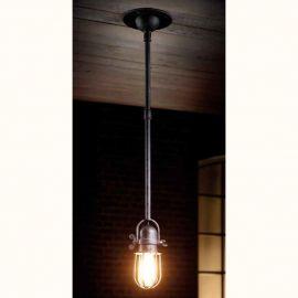 Pendul design industrial din fier forjat HL 2620 - Robers - Lustre, Candelabre Fier Forjat