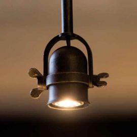 Pendul design industrial din fier forjat HL 2621 - Robers - Lustre, Candelabre Fier Forjat