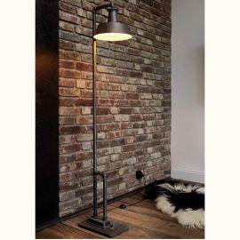 Lampa de podea design industrial din fier forjat SL 107 - Robers - Veioze, Lampadare Fier Forjat