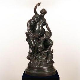 Figurina / Statueta decorativa de LUX din bronz C. M. Clodion - Evambient SV - Statuete
