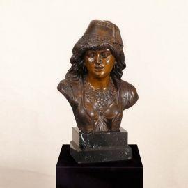 Figurina / Statueta decorativa de LUX din bronz Antique - Evambient SV - Statuete