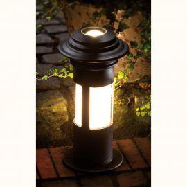 Stalp iluminat exterior din fier forjat, inaltime 42cm, AL 6823 - Robers - Stalpi Fier Forjat