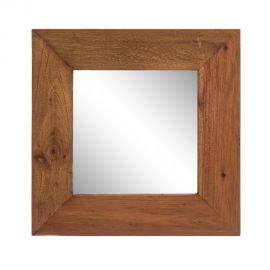 Oglinda cu lemn design rustic-vintage Simply, 50x50cm - Evambient SX - Oglinzi