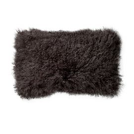 Perna, blana naturala oaie de Mongolia, negru