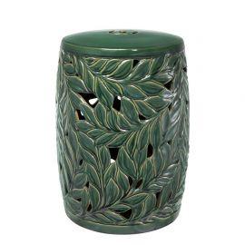Masuta din ceramica pentru interior si exterior LUX Dorian verde - Eichholtz - Masute Living