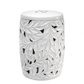 Masuta din ceramica pentru interior si exterior LUX Dorian alb