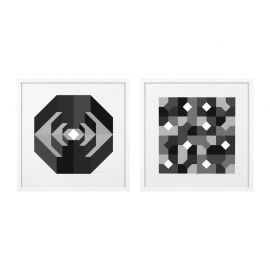 Set 2 tablouri Abstract B&W