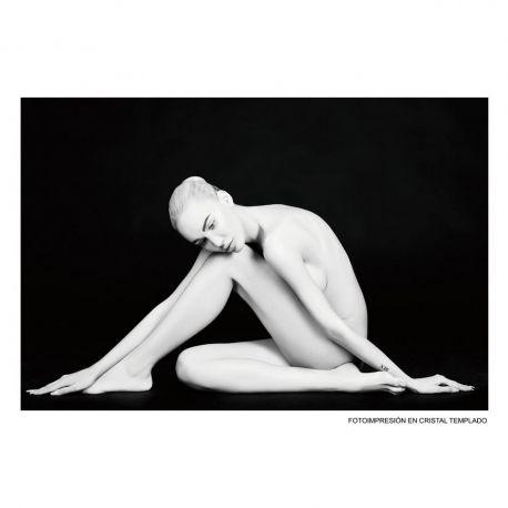 Tablou decorativ Mujer 120x80cm negru/ alb - Evambient SX - Tablouri